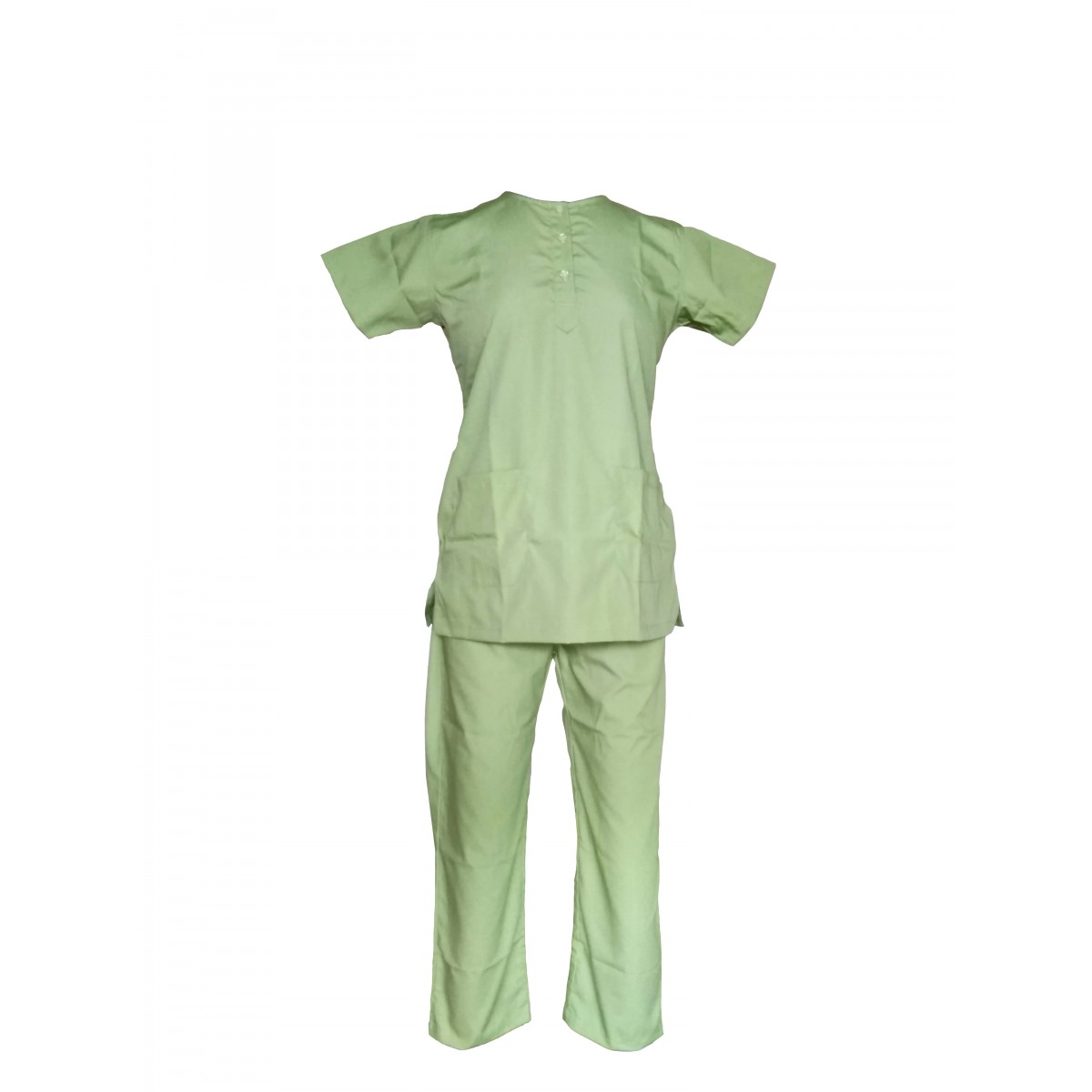 Female U-Neck Scrub Suit Sage Green