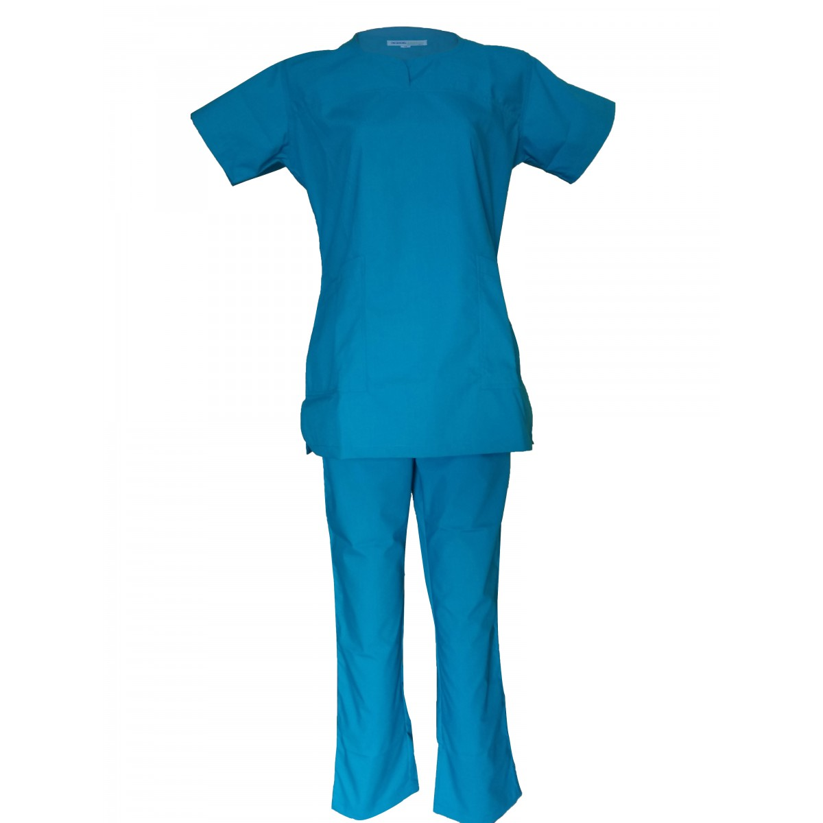 Female Y-Crossover Scrub Light Teal