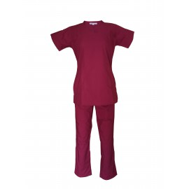 Female Y-Crossover Scrub Magenta