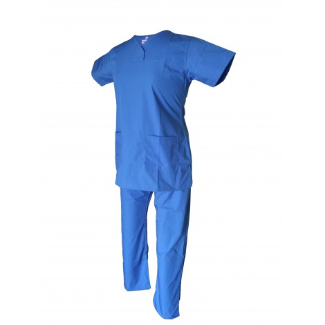 Female Y-Crossover Scrub Ocean Blue