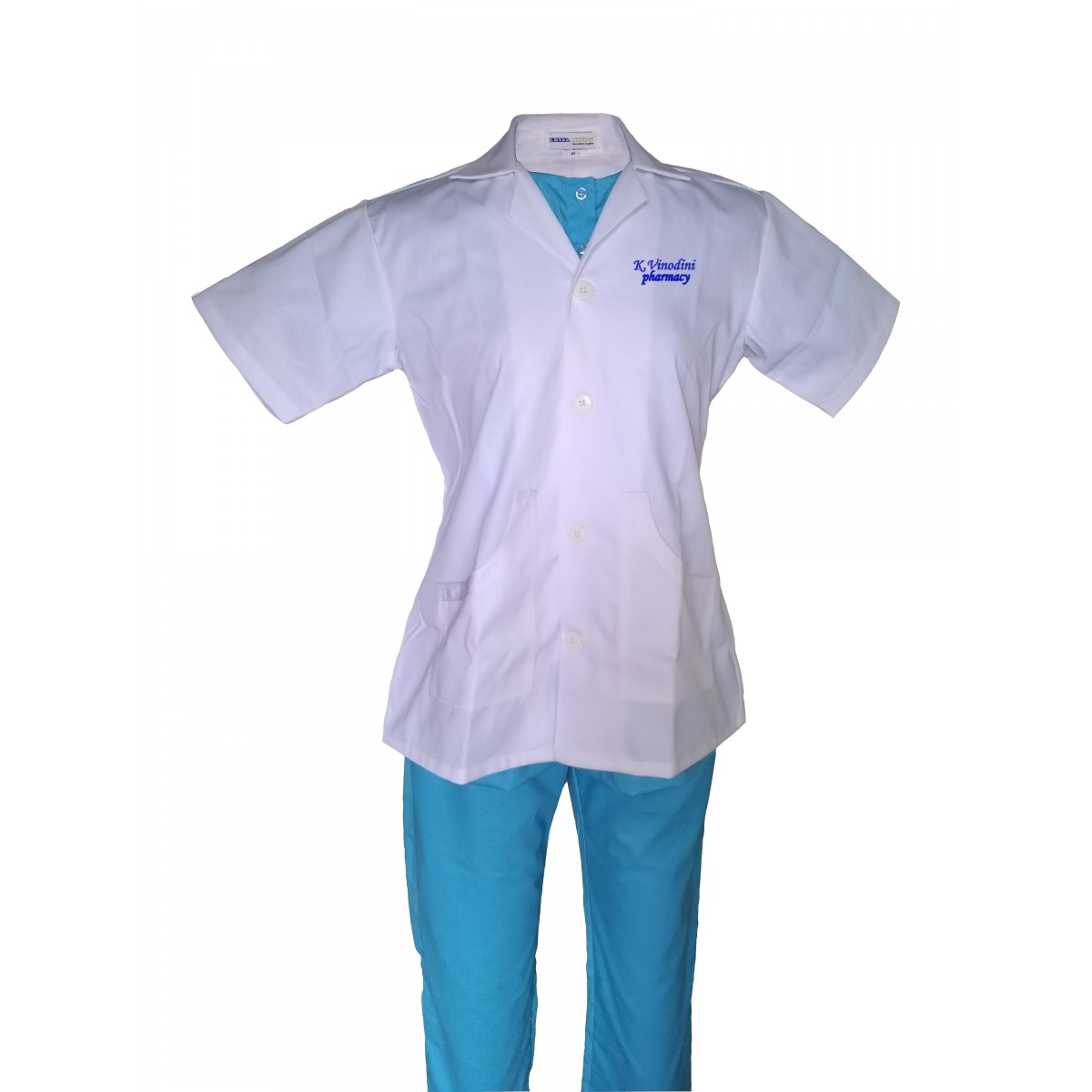 Lab Coat Female with Embroidery