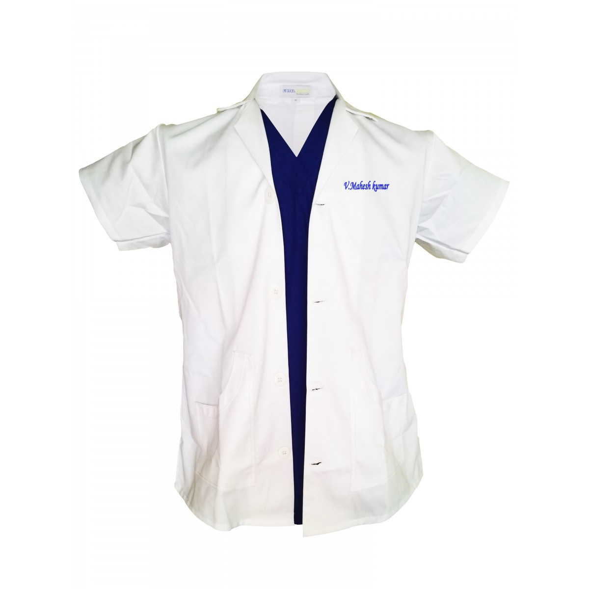 Lab Coat Male with Embroidery